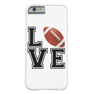 Love Football College Style Barely There iPhone 6 Case