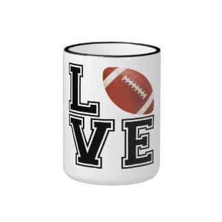 Love Football College Style Ringer Mug
