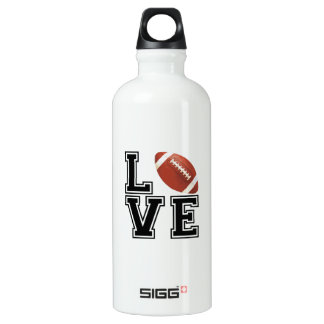 Love Football College Style Water Bottle