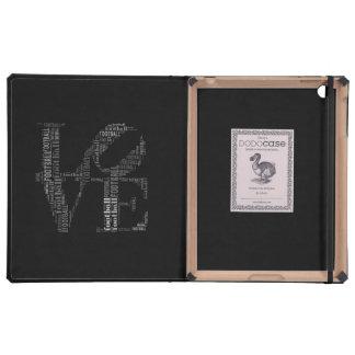 LOVE FOOTBALL DODOcase iPad Folio Cases