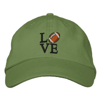 LOVE Football Embroidered Baseball Hat