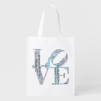 Love Football Text Bag