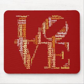 LOVE FOOTBALL Text Mousepad