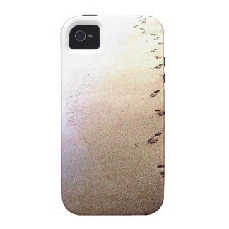 Love Footprints Two Sets Walking Beach Barbados Vibe iPhone 4 Cover