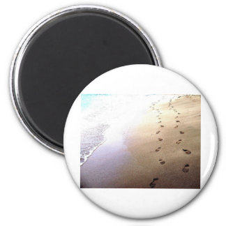 Love Footprints Two Sets Walking Beach Barbados Magnet