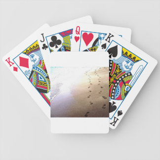 Love Footprints Two Sets Walking Beach Barbados Bicycle Playing Cards
