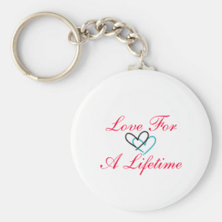 Love For a Liftime Basic Round Button Keychain