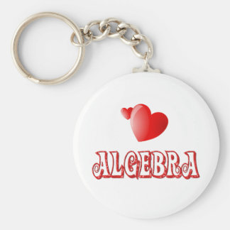 Love for Algebra Basic Round Button Keychain
