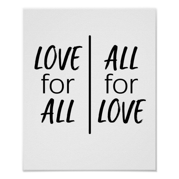Love for All, all for love Poster