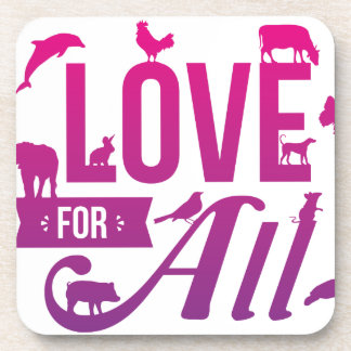 Love for All_FIN.png Beverage Coaster
