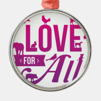 Love for All_FIN.png Metal Ornament