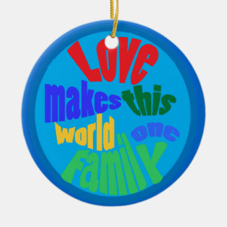 Love for all nations ceramic ornament