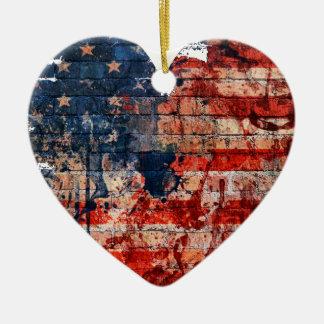 Love for America Ceramic Ornament