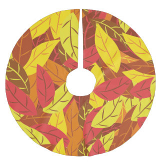 Love for autumn brushed polyester tree skirt