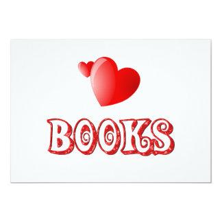 Love for Books Personalized Invite