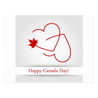 Love for Canada card with maple leaf and red heart