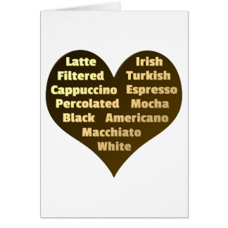 Love for Coffee Greeting Card