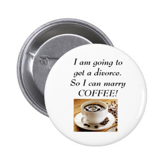 Love for coffee pinback button