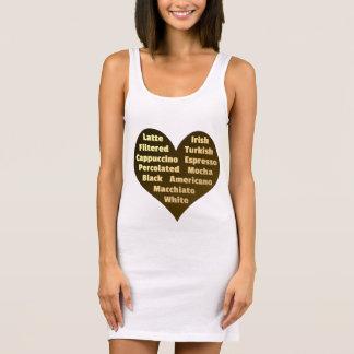 Love for Coffee Women's Jersey Tank Dress