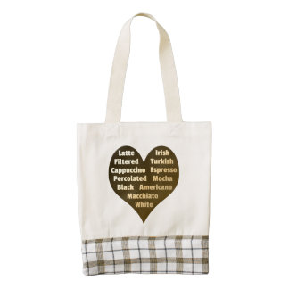 Love for Coffee Zazzle Heart Tote Bag