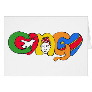 Love for Congo Greeting Card