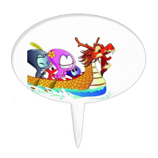 Love for dragonboating cake topper