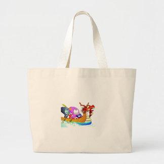 Love for dragonboating large tote bag