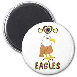 Love for Eagles 2 Inch Round Magnet