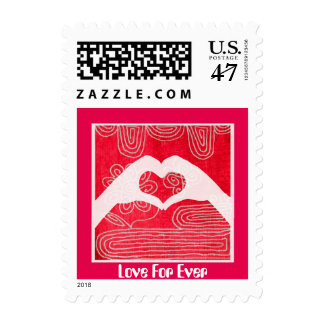 Love For Ever-Valentine's or Wedding postage stamp