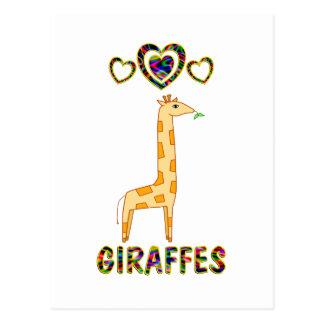 Love for Giraffes Postcard