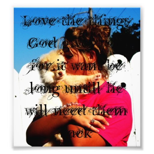 Love for Gods Gifts Photo Print