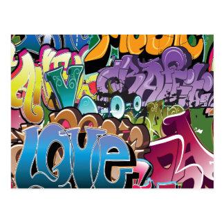 Love for Graffiti Postcard