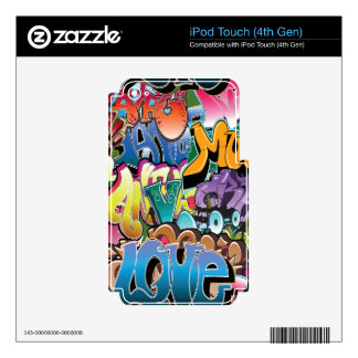Love for Graffiti Skins For iPod Touch 4G
