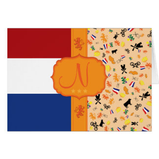 Love for Holland - Monogram Card