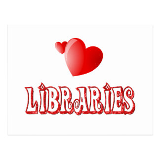 Love for Libraries Postcard