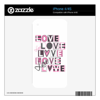 love for love vintage design decals for the iPhone 4S