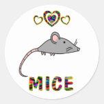 Love for Mice Round Sticker