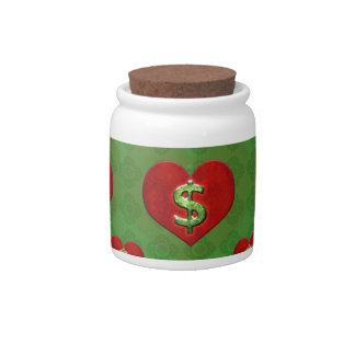 Love for Money Pattern Candy Jars