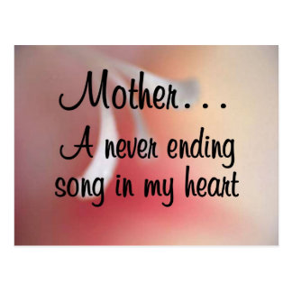 Love for My Mother: A Neverending Song in my Heart Postcard