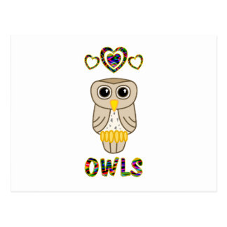 Love for Owls Postcard