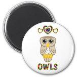 Love for Owls Refrigerator Magnets