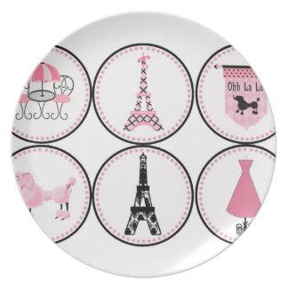 Love for Paris Dinner Plate