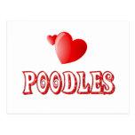Love for Poodles Postcard