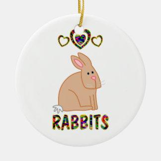Love for Rabbits Christmas Ornament
