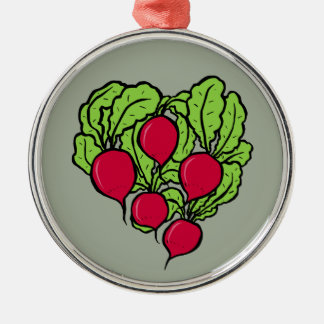 Love for Radishes Metal Ornament