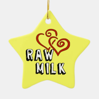 Love for Raw Milk Ceramic Ornament