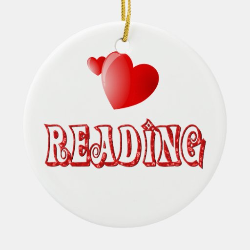 Love for Reading Double-Sided Ceramic Round Christmas Ornament