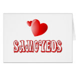 Love for Samoyeds Greeting Card