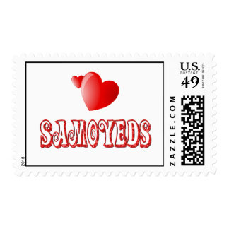 Love for Samoyeds Stamps