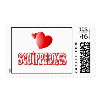 Love for Schipperkes Postage Stamp